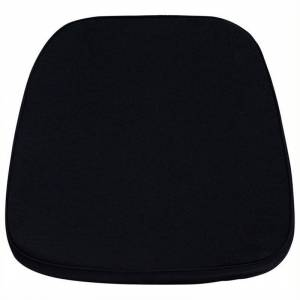 Bowery Hill Soft Black Fabric Chiavari Chair Cushion