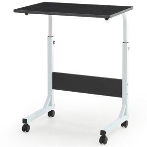 Pemberly Row Adjustable Height Laptop Desk in Black
