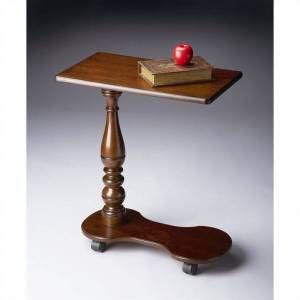 Beaumont Lane Mobile Tray Table in Plantation Cherry