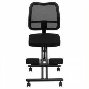 Scranton & Co Mobile Ergonomic Kneeling Office Chair in Black