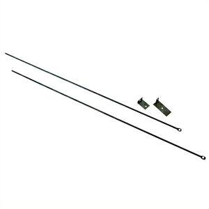 Uniflame Adjustable Fireplace Curtain Rod Kit