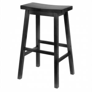Winsome 29 Bar Saddle Stool in Black
