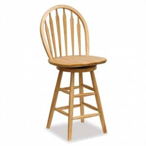 Winsome Windsor 24 Swivel Seat Bar Stool in Natural