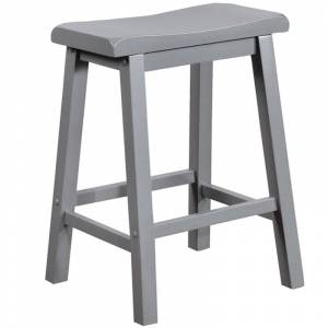 Powell Furniture Powell Logan 24 Wood Counter Stool in Gray
