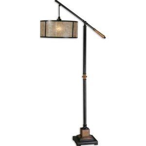 Pemberly Row Floor Lamp in Aged Black