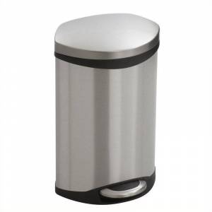Safco Step-On Receptacle - 3 Gallon in Stainless Steel