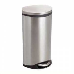 Safco Step-On Receptacle - 7.5 Gallon in Stainless Steel