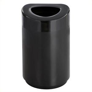 Safco Open Top Receptacle - 30 Gallon in Black