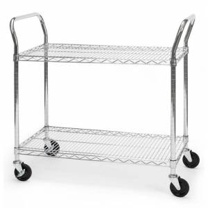 OFM X5 18 x 36 Heavy Duty Mobile Wire Metal Media Utility Cart