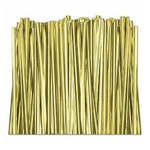 Bags & Bows by Deluxe Gold Metallic Twist Ties, 4""