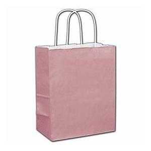 """Bags & Bows by Deluxe Rose Gold Shoppers, 8 1/4 x 4 3/4 x 10 1/2"""""""