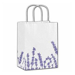 """Bags & Bows by Deluxe Lavender Shoppers, 8 1/4 x 4 3/4 x 10 1/2"""""""