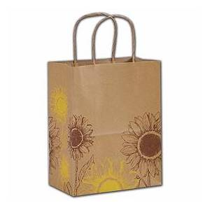 """Bags & Bows by Deluxe Sunflower Shoppers, 8 1/4 x 4 3/4 x 10 1/2"""""""