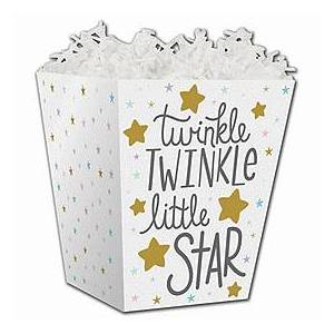 Bags & Bows by Deluxe Twinkle Little Star Sweet Treat Boxes, 4 x 4 x 4 1/2""