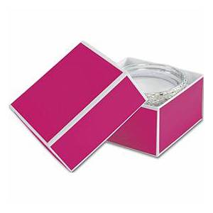 Bags & Bows by Deluxe Fillmore Fuchsia Jewelry Boxes, 3 1/2 x 3 1/2 x 2""