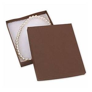 """Bags & Bows by Deluxe Cocoa Jewelry Boxes, 6 x 5 x 1"""""""