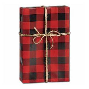 "Bags & Bows by Deluxe Buffalo Plaid Gift Wrap, 30"" x 208'"
