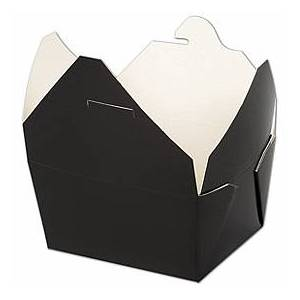 """Bags & Bows by Deluxe BIOPAK(r) Black Food Containers, 5 x 4 1/2 x 2 1/2"""""""