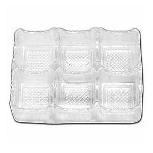 """Bags & Bows by Deluxe Clear 6-Truffle Trays, 4 1/2 x 3 x 1"""""""