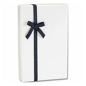 "Bags & Bows by Deluxe Ultra White Gloss Jeweler's Roll Gift Wrap, 7 3/8"" x 100'"