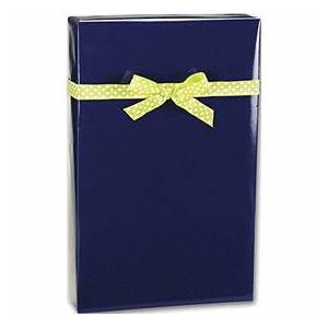 "Bags & Bows by Deluxe Navy Ultra Gloss Gift Wrap, 24"" x 100'"