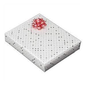 """Bags & Bows by Deluxe Sterling Dots Jeweler's Roll Gift Wrap, 7 3/8"""" x 150'"""
