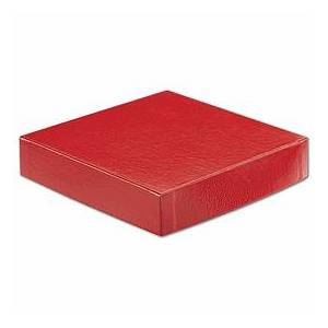 """Bags & Bows by Deluxe Red Hi-Wall Gift Box Lids, 6 x 6"""""""