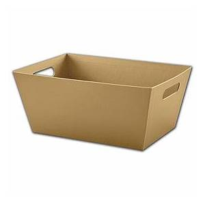 """Bags & Bows by Deluxe Gold Market Trays, 14 x 9 x 6"""""""