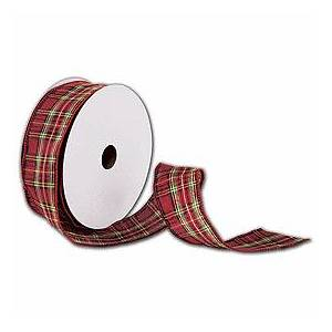 """Bags & Bows by Deluxe Tartan Plaid Ribbon, 1 1/2"""" x 50 Yds"""