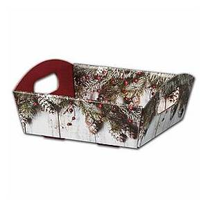 """Bags & Bows by Deluxe Rustic Presentation Tray Boxes, 8 1/ 4 x 7 1/2 x 2 1/2"""""""