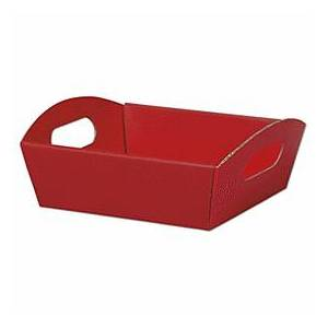 """Bags & Bows by Deluxe Red Presentation Tray Boxes, 8 1/4 x 7 1/2 x 2 1/2"""""""