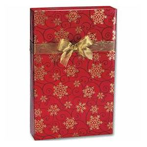 "Bags & Bows by Deluxe Snowflake Medallions Gift Wrap, 24"" x 100'"