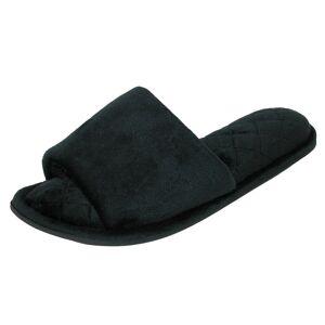 Dearfoams Women's Velour Side Gore Slide Slipper with Microfiber -