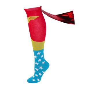 BioWorld Wonder Woman Knee High Shiny Red Caped Socks - Multi one size