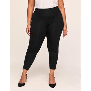 Adore Me - Penny Ponte Pant Plus - Black - Size: 1X,2X,3X,4X