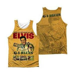TrevCo Elvis Presley Gi Blues (Front/back Print)-adult 100% Poly  - Size: 3X