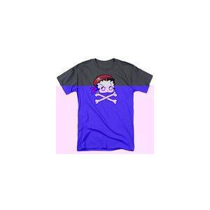 TrevCo BETTY BOOP PIRATE - S/S ADULT 18/1 - CHARCOAL T-Shirt