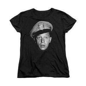 TrevCo ANDY GRIFFITH BARNEY HEAD - S/S WOMENS TEE - BLACK T-Shirt  - Size: LG