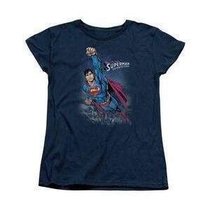 TrevCo SUPERMAN TWILIGHT FLIGHT - S/S WOMENS TEE T-Shirt  - Size: Extra Large