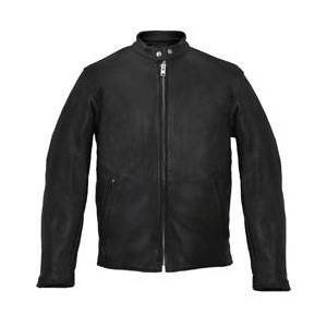 Hot Leathers Men's USA Made Scooter Black Leather Jacket