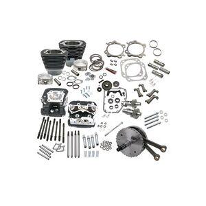 "S & S Cycle 124"" Wrinkle Black Hot Set-Up Kit"