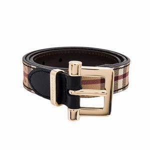 Burberry Dells Haymarket Belt - Chocolate and Black - 80cms