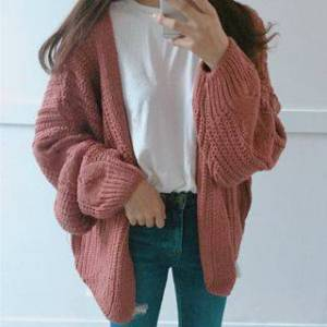 Moon City Cable-Knit Cardigan  - http://www.yesstyle.com/p1062149803