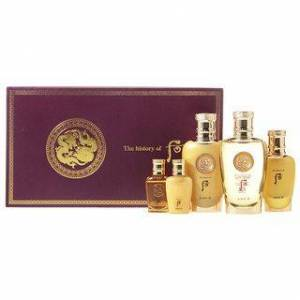 The History of Whoo - Cheongidan Kun Special 2pcs Set: Kun Hwa Yang Skin 150ml + 20ml + Lotion 110ml + 20ml + Treatment 50ml 5 pcs