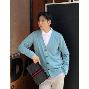 GERIO V-Neck Cardigan in 10 colors