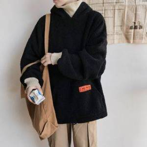 Bay Go Mall Mock Two-Piece Fleece Hoodie