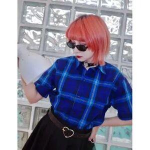 DUKA Plaid Short-Sleeve Shirt