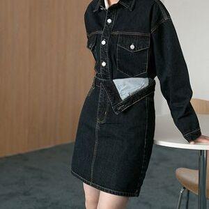 Heynew Denim Jacket / Mini Pencil Skirt