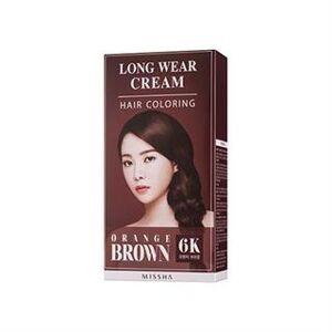MISSHA - Long Wear Cream Hair Coloring (#6K Orange Brown) No.6K - Orange Brown