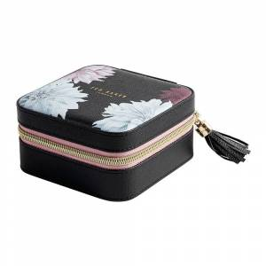 Ted Baker - Zipped Jewelry Case - Black/Clove - Black/Clove